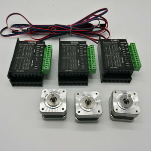 3axis Nema17 Stepper Motor 40oz in Driver Kit For 3d Printer Cnc 1 8 4 lead