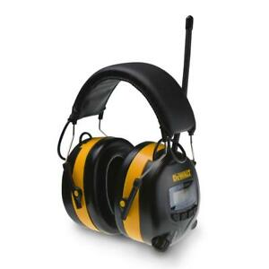 Digital Adjustable Ear Muff Radio Music Work Hearing Protection Dewalt new