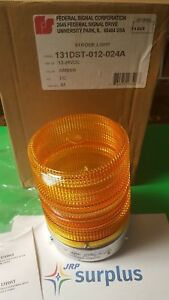 New Federal Signal 131dst 012 024a Double Strobe 12 24vdc Pipe Mount Amber