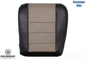 05 Ford Excursion Eddie Bauer Passenger Side Bottom Leather Seat Cover Black Tan