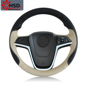 Hand Sew Leather Steering Wheel Cover For Buick Excelle Xt Gt Encore Opel Mokka