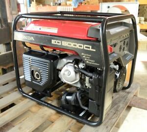 Honda Eg5000cl Gas Generator Great Condition 5000 Watt