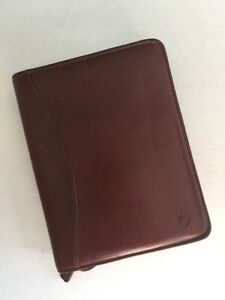 Vintage Franklin Covey Compact Planner Leather Personal Binder Agenda Organizer