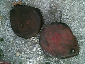Farmall M Rowcrop Tractor Ih Pair Set Of Brake Band Bands Cover Covers