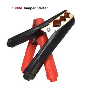 2pair 1500a Heavy Duty Battery Charger Clips Clamps Jumper Cable Jump Starter