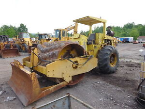 Bomag Bw210 Padfoot Compactor Runs Mint Detroit Diesel Pneumatic Roller