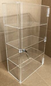 12 1 2 x 7 x 22 1 2 Countertop Display W Door And Lock Cabinet Showcase Acrylic