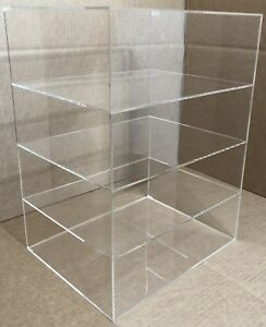 12 X 9 1 2 x 16 Countertop Display No Door One Side Open Acrylic Cabinet Case