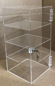 9 5 X 9 5 X 16 Acrylic Countertop Display Case Locking Locking Cabinet