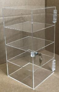 12 X 12 X 16 Acrylic Countertop Display Case Locking Locking Cabinet