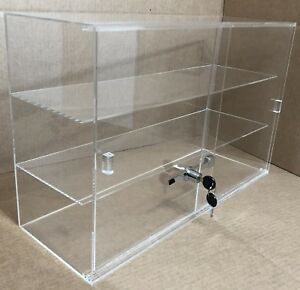 21 1 4 X 7 1 2 X 13 1 4 Acrylic Jewelry Countertop Display W 3 Shelves Sliding