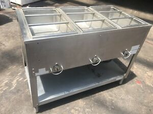 Duke 3 Well Steam Table Commercial Restaurant Stainless Steel Buffet