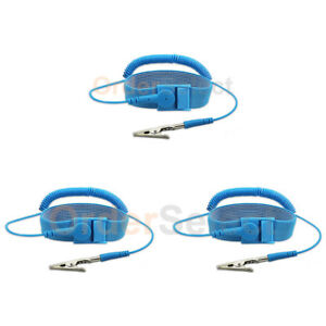3x New Anti static Esd Adjustable Strap Antistatic Grounding Bracelet Wrist Band