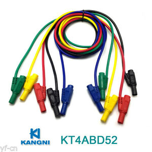 10pcs Kt4abd52 1m Moulded Seal Insulated Stackable 4mm Banana Plug Test Leads