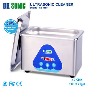 Dksonic 0 8l Ultrasonic Jewelry Cleaner For Parts Watch Eyeglasses Circuit Board