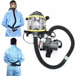 Electric Constant Flow Supplied Air Fed Respirator System Full Face Gas Mask Us