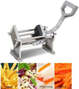 Potato French Fry Cutter 4 Stainless Steel Blade Kitchen Fruit Vegetable Slicer