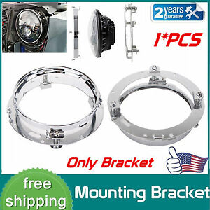 7 Inch Led Headlight Adapter Mounting Ring Bracket Head Lamp Daymaker Round