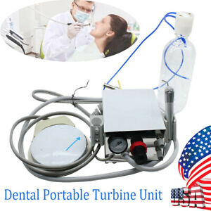 Dental Portable Turbine Unit Work For Air Compressor 4 Hole 3 Way Syringe Usa