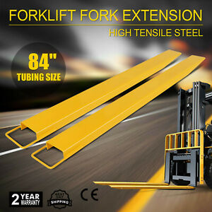 84x5 5 Forklift Pallet Fork Extensions Pair 2 Thickness Industrial Lifts Trucks