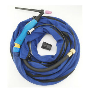 Air Cooled Tig Torch Welding Gun Wp 9v Gas Valve 125amp 4m Cable Hose Burner M16