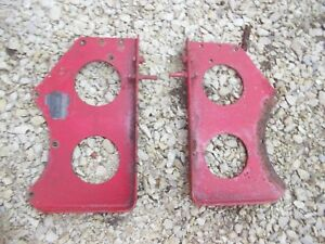 Farmall Bn Tractor Original Ih Main Seat Mount Brackets Bracket Good Ih Tag