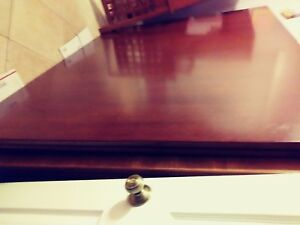 12 Foot X 5 Foot 2 Piece Top With 3 Fancy Leg Oak Conference Table