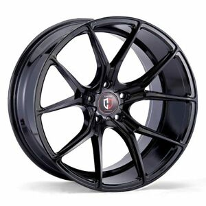 20x10 5x112 Curva C42 Gloss Black Made For Audi Mercedes Volkswagon Low Offset