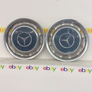 1960 1979 Vintage Mercedes Benz Pagode Set Of 2 Hubcap Wheel Covers 14 Oem