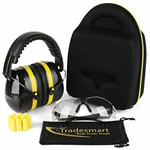 Shooting Ear Muffs Protection W Protective Case Gun Safety Glasses