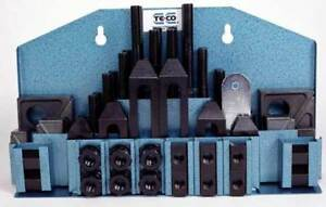 52 Pc Te co 1 2 X 3 8 16 stud Workholding Machinist Clamp Kit For Cnc Mill