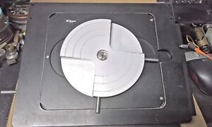 Nikon 6x6 Travel Stage With Wafer Plate For Optiphot inspection Microscopes