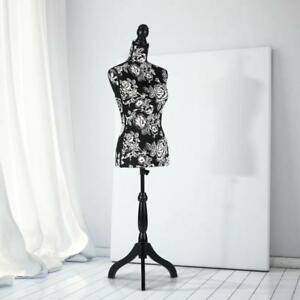 Female Mannequin Dress Form Torso Dressmaker Wood Tripod Stand Display A8n3