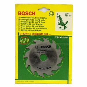 Bosch 105mm X 20mm 12t Tct Biscuit Jointer Saw Blade Guf 4 22a Made In Germany