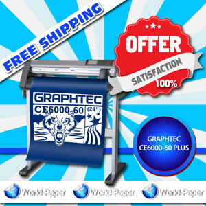 High Quality 24 Graphtec Ce6000 60 Plus High Performance Vinyl Cutting Plotter