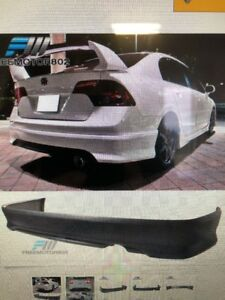 For 06 11 Honda Civic Sedan Hfp Rear Bumper Lip Spoiler Pu
