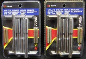 Lot Of 2 Spectre 5298 Valve Cover Hold Down T Bar Bolts 1 4 20 For Chevy Sbc