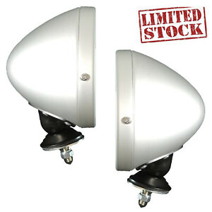 Pair Spun Raydot Style Classic Racing Mirror Convex For Ford Mustang Gt40 Ac