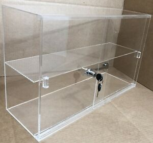 21 1 4 X 7 1 2 X 13 1 4 Acrylic Jewelry Countertop Display W 2 Shelves Sliding