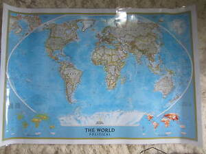 National Geographic 2014 Wall Map Of The World Political 31 X 44 Guc