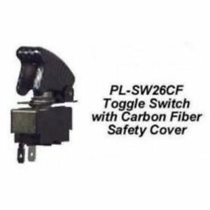 Chp pl sw26cf toggle Switch W Carbon Fiber Safety Cover