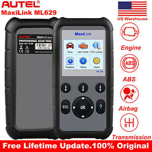Autel Ml629 Obd2 Car Auto Diagnostic Tool Scanners Abs Srs Engine Transmission