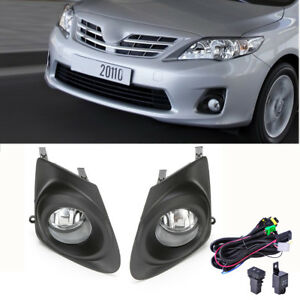 Fits 2011 2013 Toyota Corolla Clear Bumper Fog Lights Lamps Cover Switch Wiring
