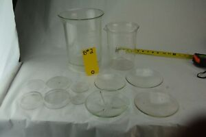 Pyrex Kimax Glass Lab Science Measuring Beakers Funnel 2000 Ml 1000 600 400 Lot