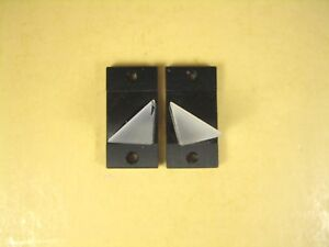 Mounted Optical Glass Prism 10mm L X 10mm Ht Lot Of 2