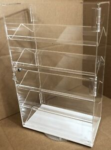 5 Shelves Jewelry Display Case W Spinner Countertop Display Locking 2 Door Case