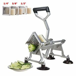 Hot Deal Alloy Heavy Duty French Fry Cutter Slicer Suction Feet 1 4 3 8 1 2 Blad