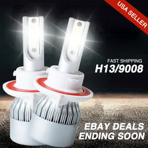 Front Cree H13 9008 Led Headlight Kit Bulbs For Ford Mustang Gt500 2012 2005