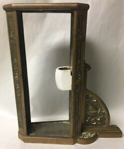 Extraordinary Superb Cast Bronze Theater Art Deco Lighted Exit Sign Frame only