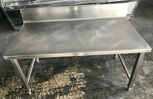 Used 24 X 48 Work Table With Back Splash
